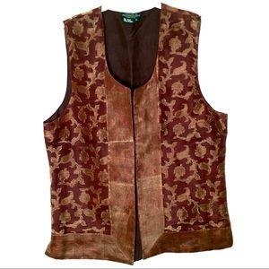 J. Peterman Company Silk Vest EUC